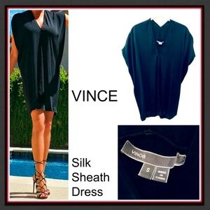 VINCE Silk Sheath Dress